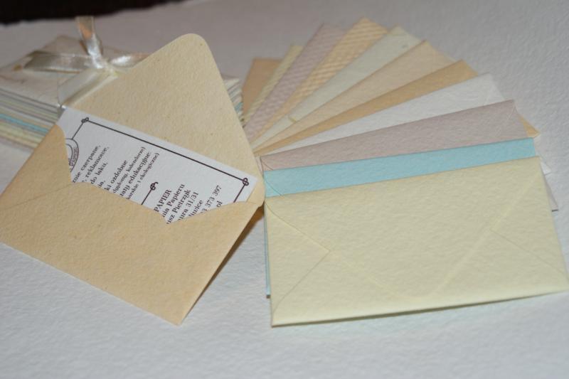 Kopertka Bilecik Z Papieru Czerpanego